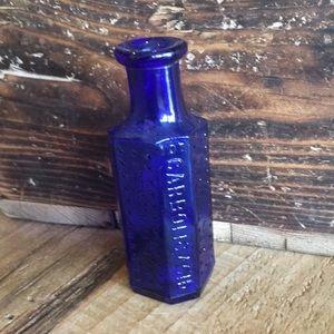 Antique Blue Glass poison bottle